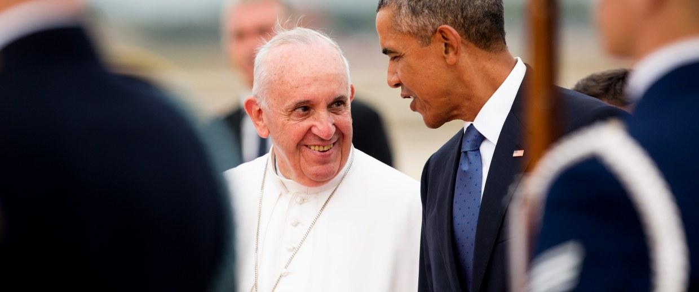 Image: Pope Francis, Barack Obama