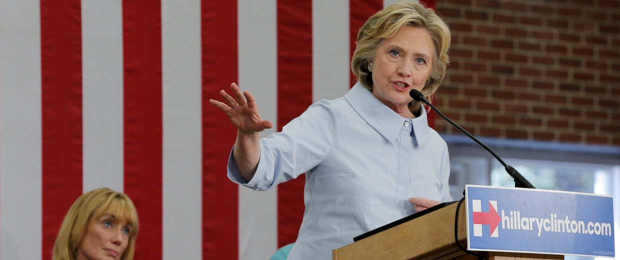 Image: U.S. Democratic Presidential candidate Clinton speaks at a campaign community forum on college affordability in Durham