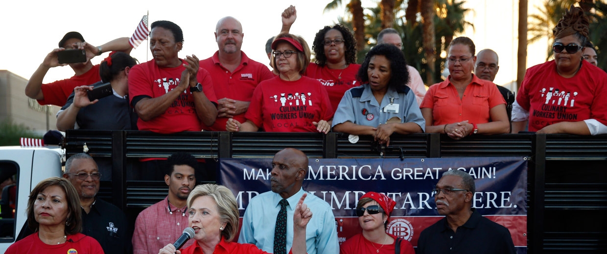 Image: Democratic presidential candidate Hillary Rodham Clinton speaks during a rally