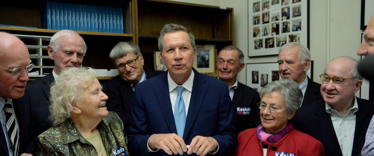 Image: Republican Presidential Candidate For President John Kasich Files Paperwork For The NH Primary