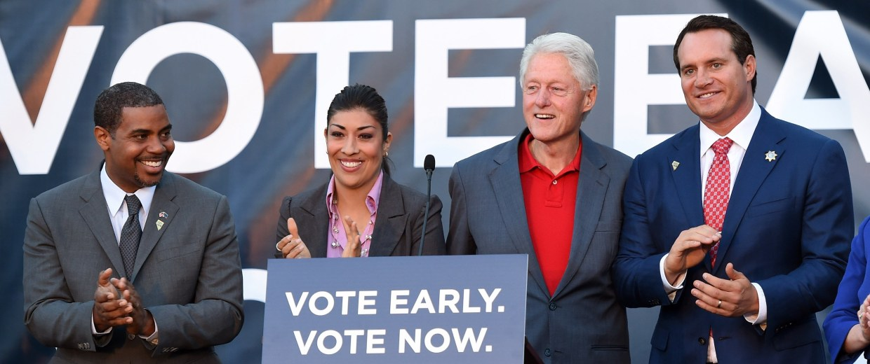 Image: Bill Clinton Campaigns For Nevada Democrats Up For Re-Election