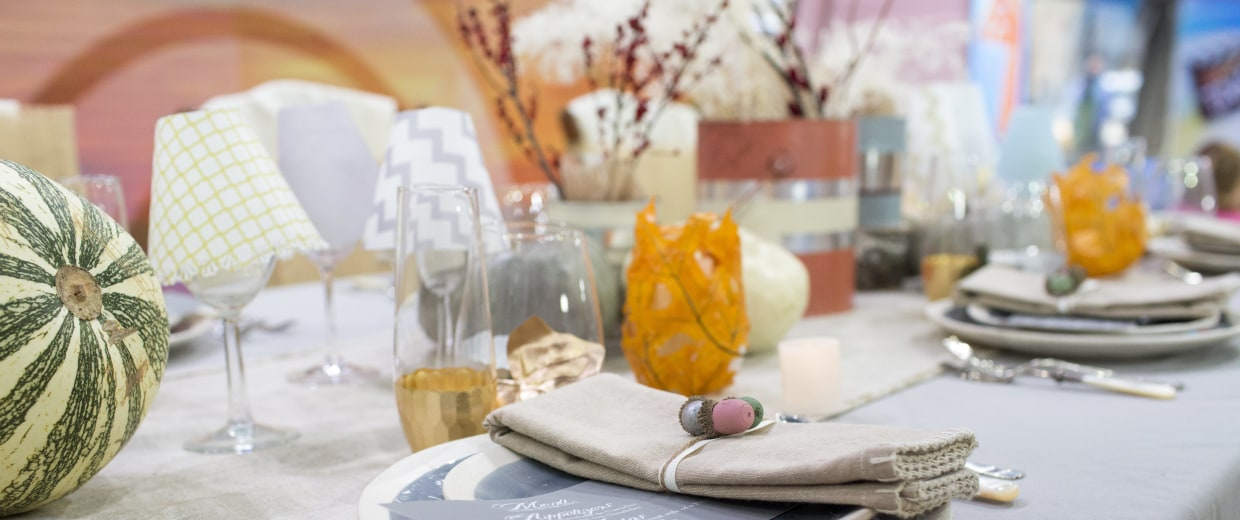 Image: Adorable Thanksgiving table decorations