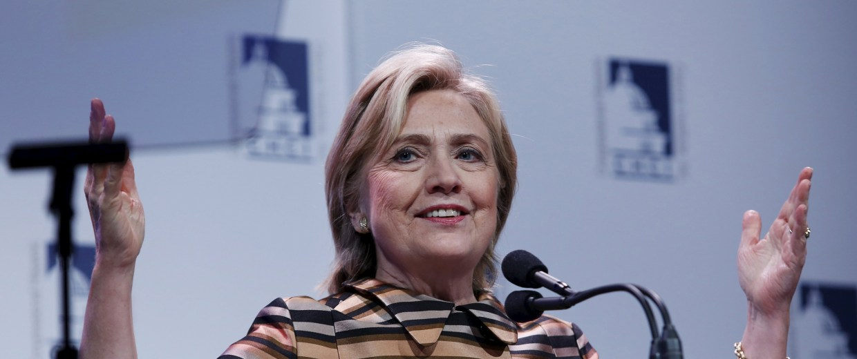 Image: Hillary Clinton speaks at the Congressional Hispanic Caucus Institute's Awards Gala