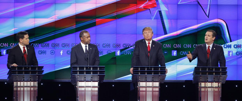 Image: Ted Cruz, Donald Trump, Jeb Bush, Ben Carson