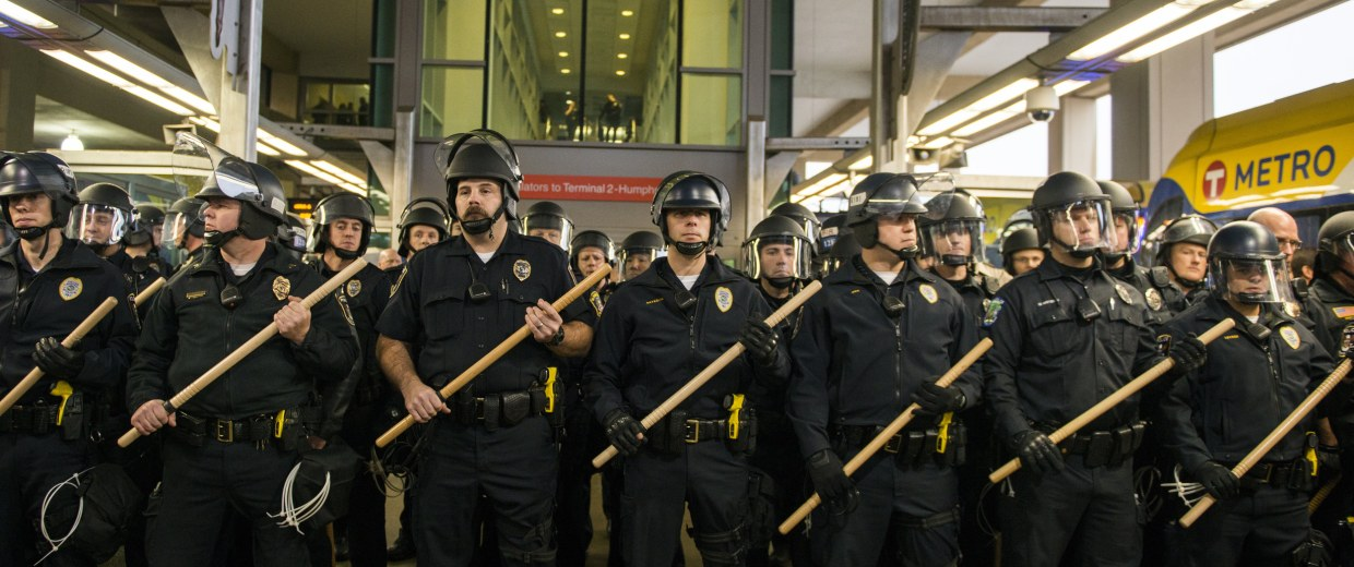 Image: Black Lives Matter Activists Group Protest at the Mall of America and the Minneapolis-St. Paul Airport