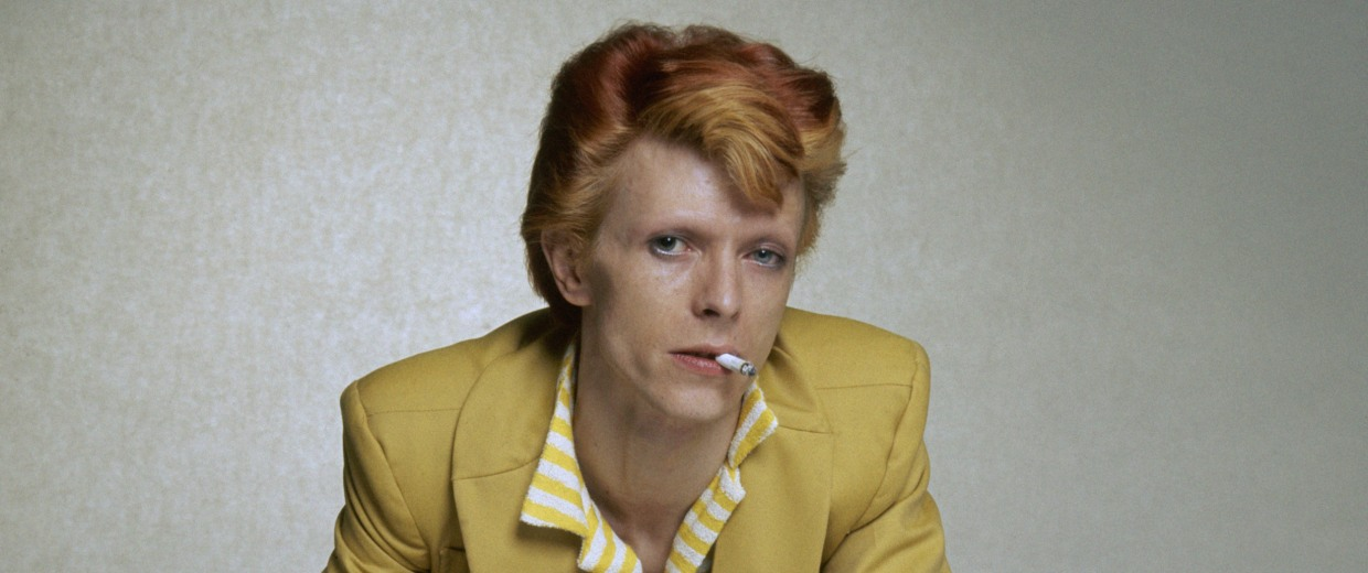 Image: David Bowie strikes a pose