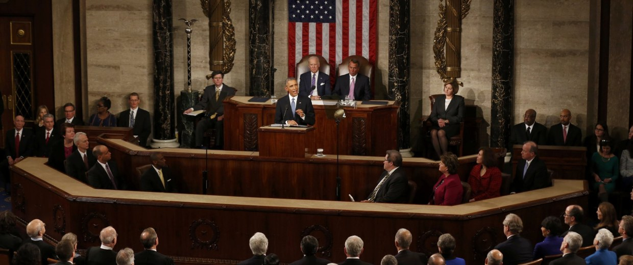 Image: U.S. President Barack Obama delivers his State of the Union address to a joint session of the U.S. Congress on Capitol Hill in Washington