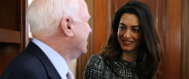 Image: Amal Clooney meets with Sen. John McCain