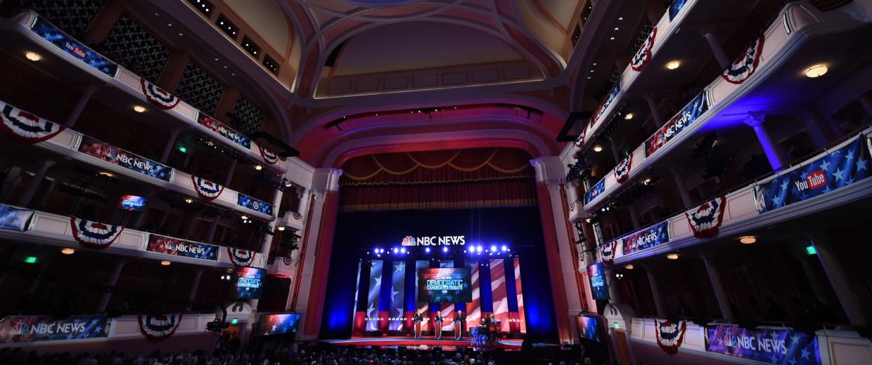 Image: US - VOTE - DEMOCRATS - DEBATE