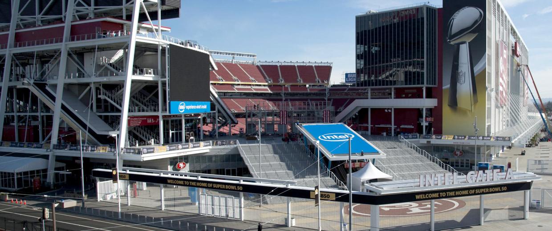 Image: Super Bowl 50 preparations at Levi's Stadium