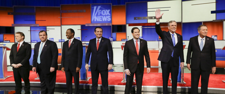 Image: Rand Paul, Chris Christie, Ben Carson, Ted Cruz, Marco Rubio, Jeb Bush, John Kasich
