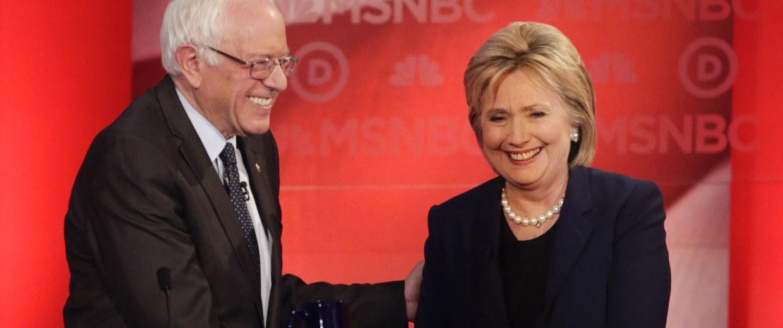 Image: Bernie Sanders, Hillary Clinton