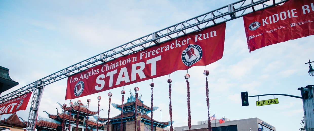 Image: The Los Angeles Chinatown Firecracker Run 2016