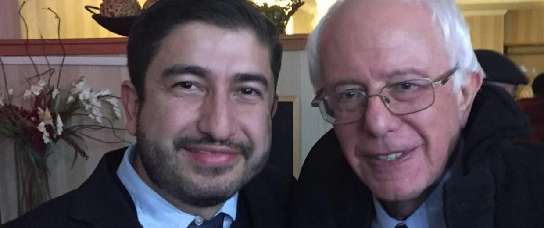 Image: Bernie Sanders and Arturo Carmona