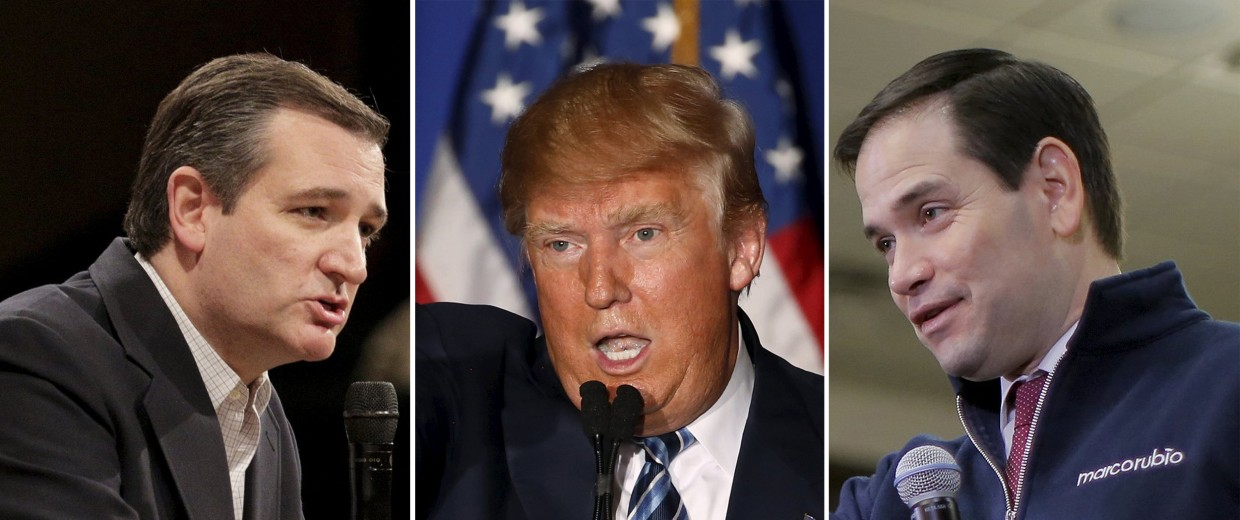 Image: Ted Cruz, Donald Trump, Marco Rubio attack each other