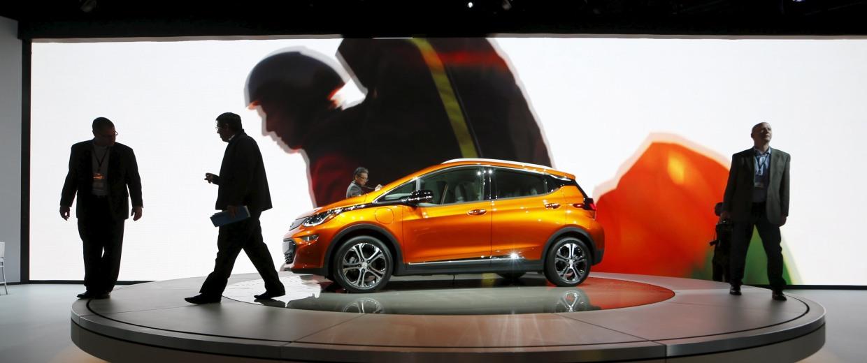 Image: A Chevrolet Bolt EV electric vehicle