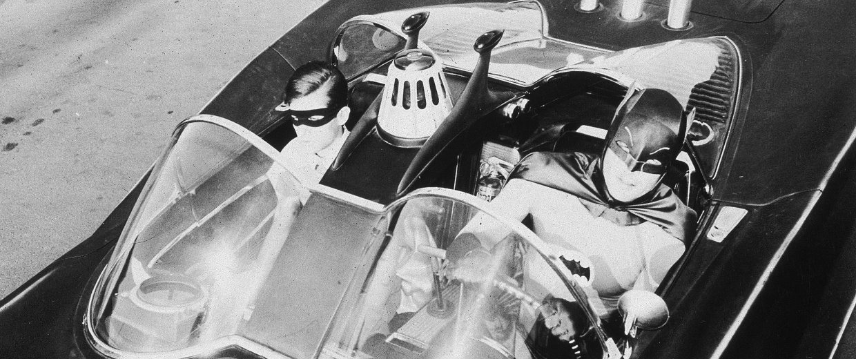Image: Burt Ward and Adam West as Batman & Robin