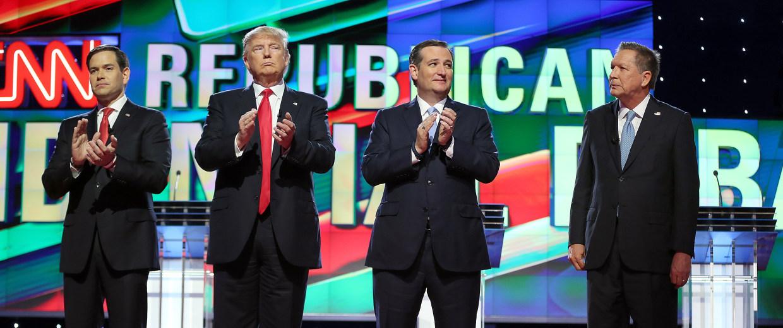 Image: John Kasich, Ted Cruz, Marco Rubio, Donald Trump
