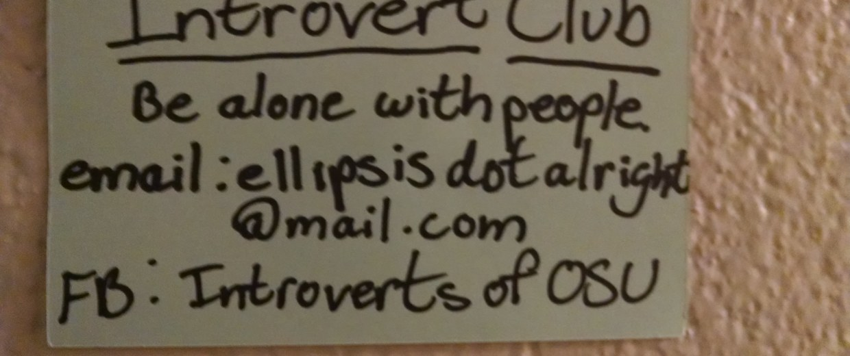Image: College Game Plan Introvert Club