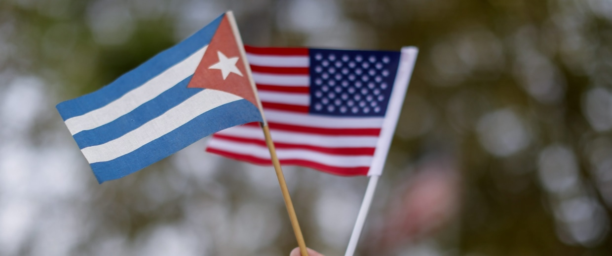 Image: Cubans protest against Obama's visit to Cuba in Miami, Florida, USA.