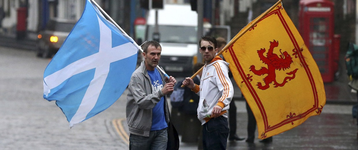 Image: Supporters of Scottish independence on Sept. 19, 2014