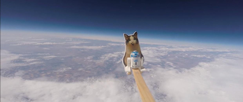 "The Loki Lego Launcher's ""crew"" reaches the stratosphere."