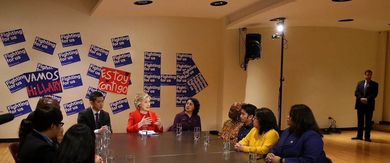 Image: Hillary Clinton Addresses National Action Network Convention In NYC