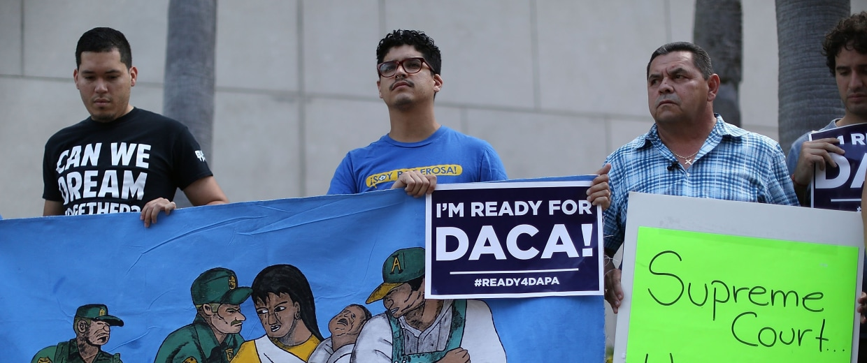 Image: Activists Hold News Conference Ahead Of Supreme Court's Oral Arguments On Immigration Case