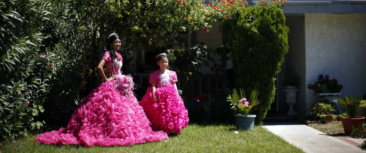 Image: Mimi Pineda before her quinceanera