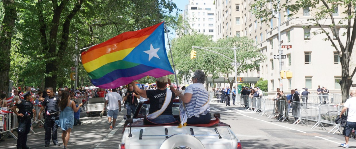 Ada Conde and Yvonna Alvarez, specially recogniszed in the National Puerto Rican Day Parade