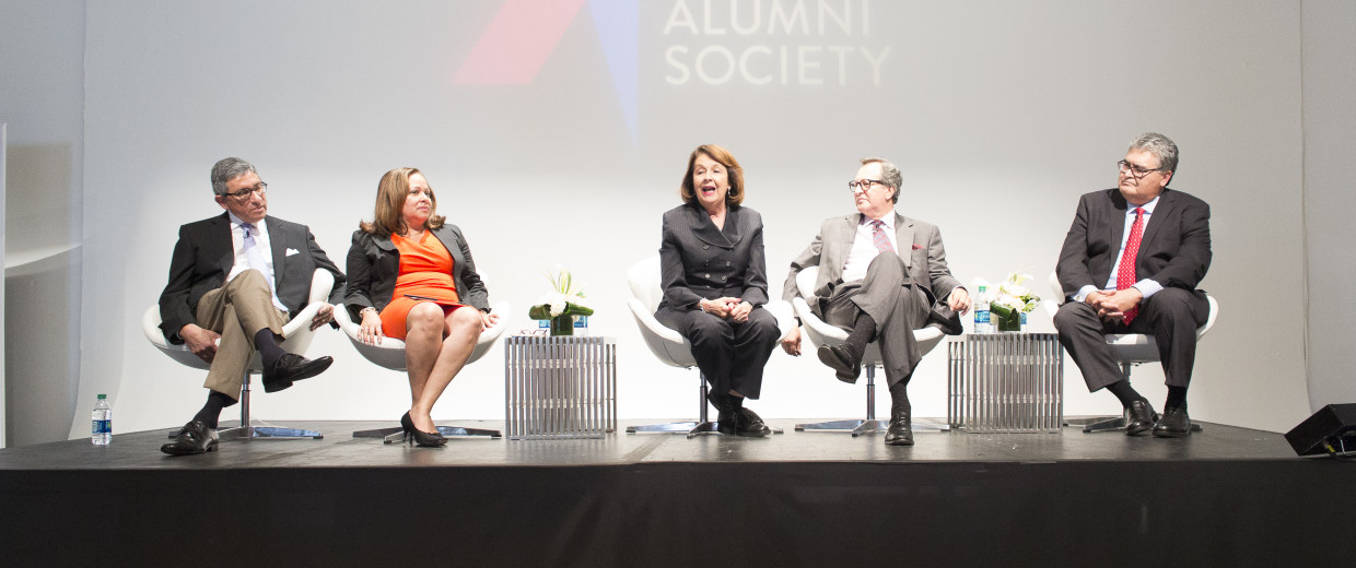 Ada Alvarez is on HP's board of directors speaking at The Alumni Society's leadership summit