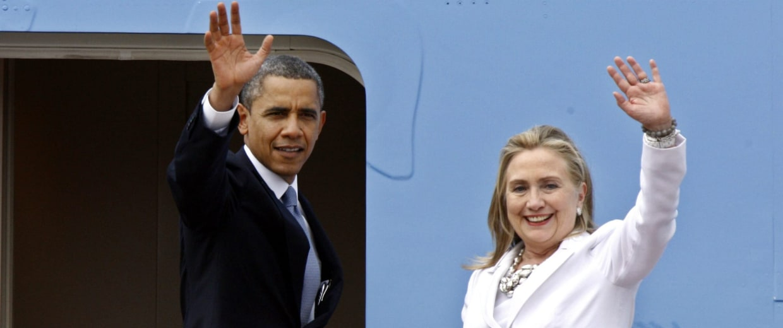 Image: US President Barack Obama endorses Hillary Clinton for president