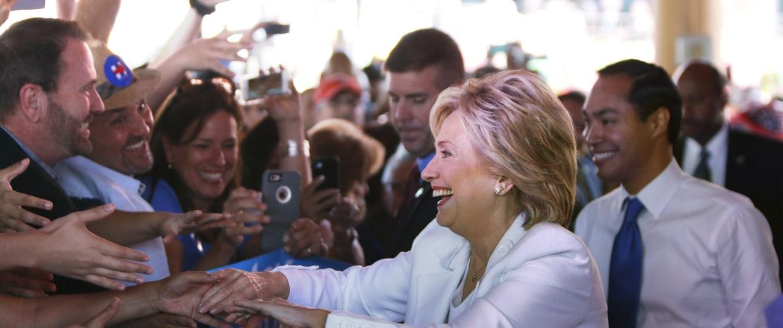 Image: Democratic U.S. presidential hopeful Hillary Clinton Hosts Latinos For Hillary Event In San Antonio