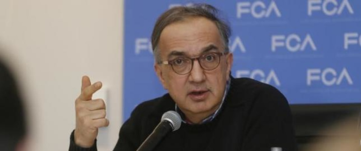 Sergio Marchionne, CEO of Fiat Chrysler, speaks at the North American International Auto Show in Detroit