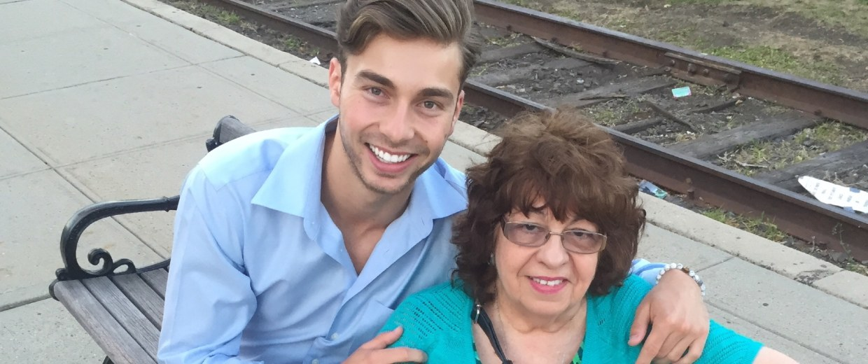 Darek Michael Wajda with his Abuela Rogelia Capote