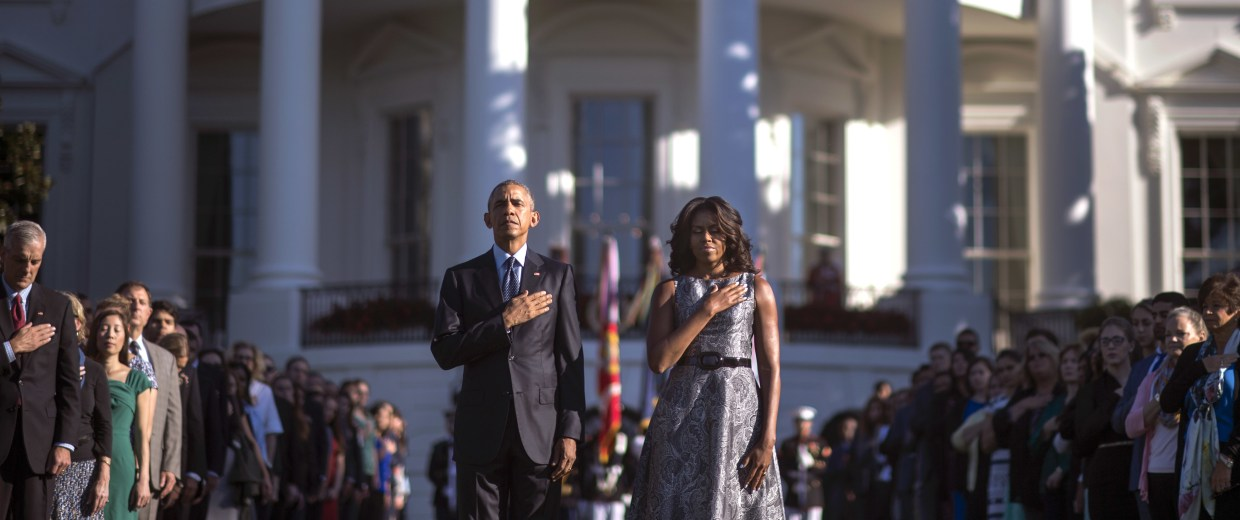 President Obama, First Lady Hold Moment Of Silence On Anniversary Of 9/11 Attacks