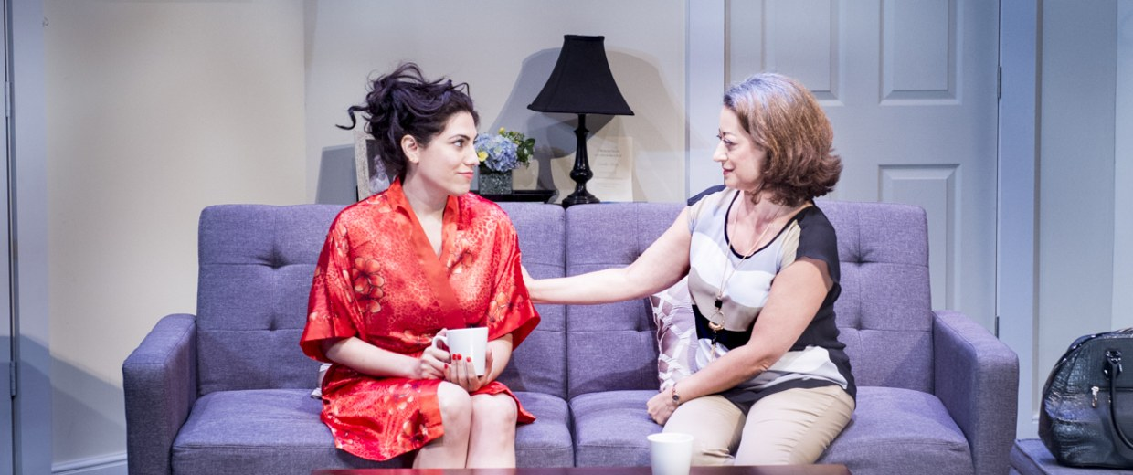 Vanessa Verduga and Adriana Sananes (Carmen) have a heart-to-heart talk about their dysfunctional family in Implications of Cohabitation.