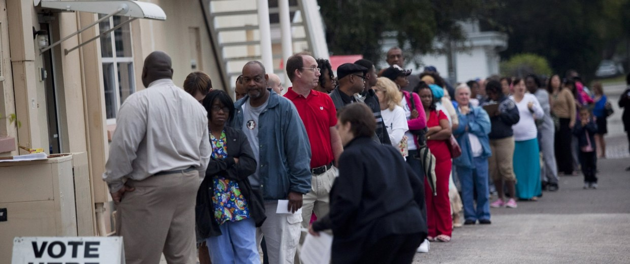 Image: U.S. Citizens Head To The Polls To Vote In Presidential Election