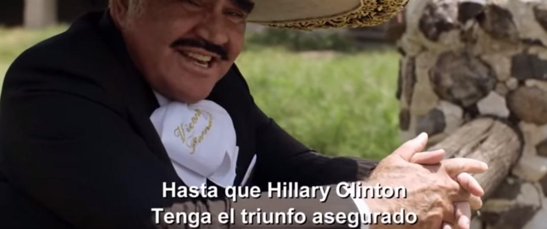 "Vicente Fernancez's ""El Corrido de Hillary Clinton"""
