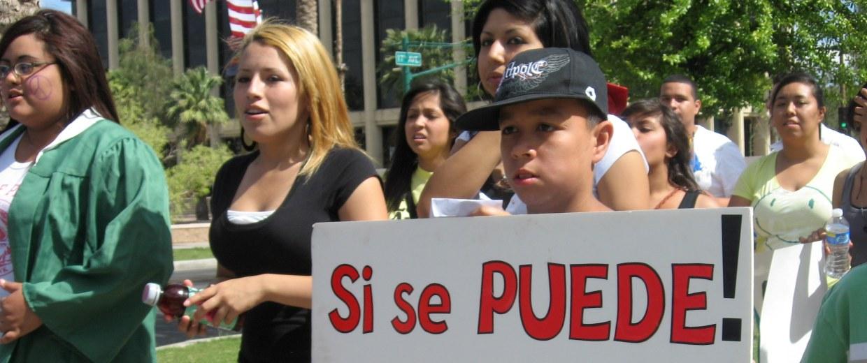 Students protest SB 1070 in Arizona in 2010.