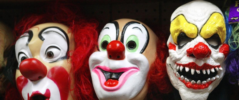 Image: Clown masks