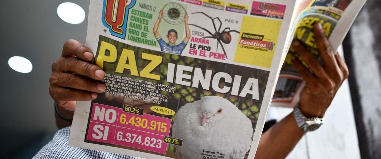 Image: COLOMBIA-REFERENDUM-FARC-PEACE-AFTERMATH