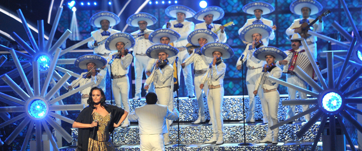 Shaila Durcal performs a tribute to Juan Gabriel at the Latin American Music Awards at the Dolby Theatre on Thursday, Oct. 6, 2016, in Los Angeles.