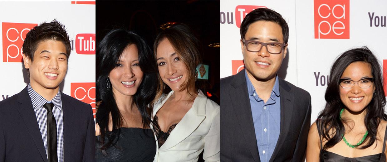 Ki Hong Lee, Kelly Hu, Maggie Q, Randall Park, Ali Wong at CAPE's 2011 gala