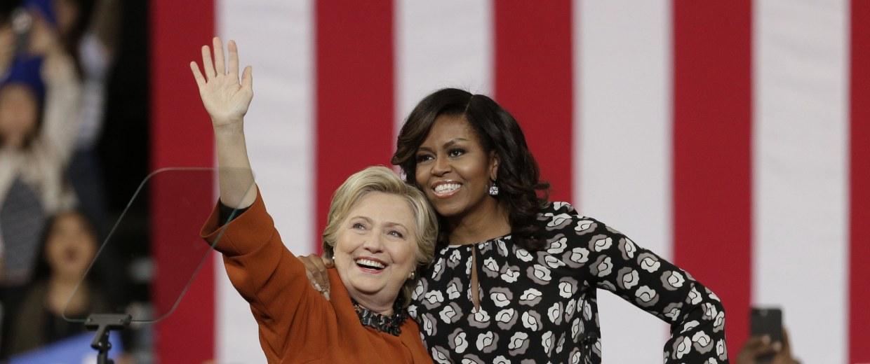 Image: Michelle Obama, Hillary Clinton