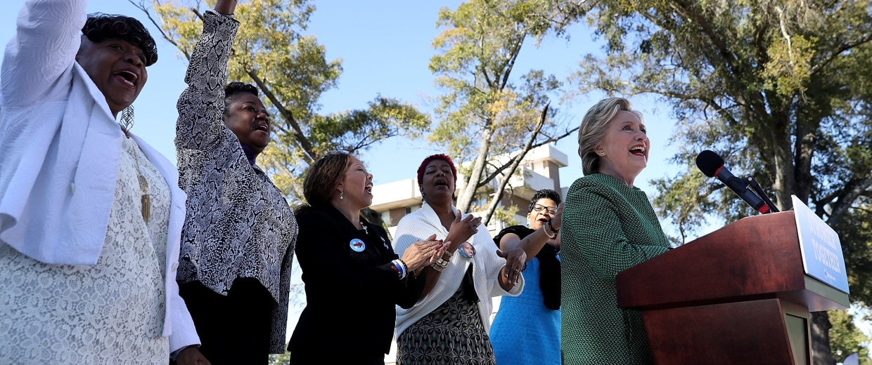Image: Hillary Clinton Campaigns In North Carolina