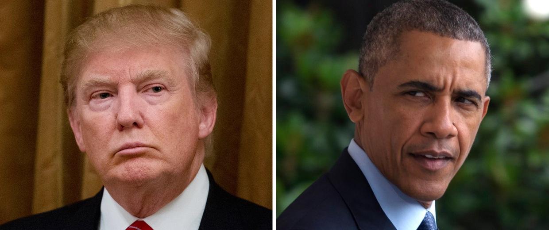 Image: Donald Trump; Barack Obama