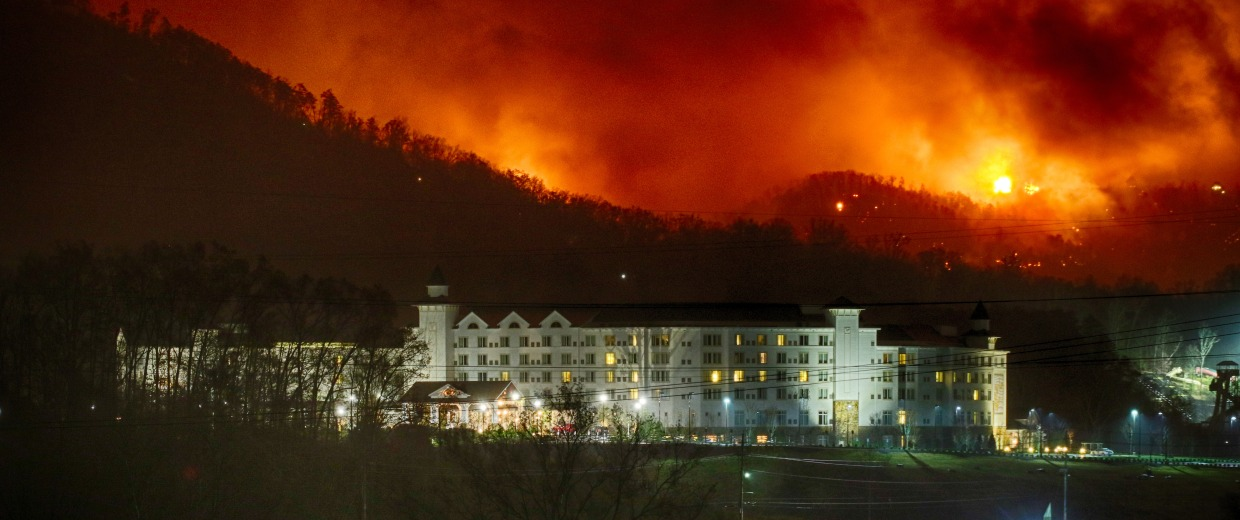 IMAGE: Fire near Dollywood Resort
