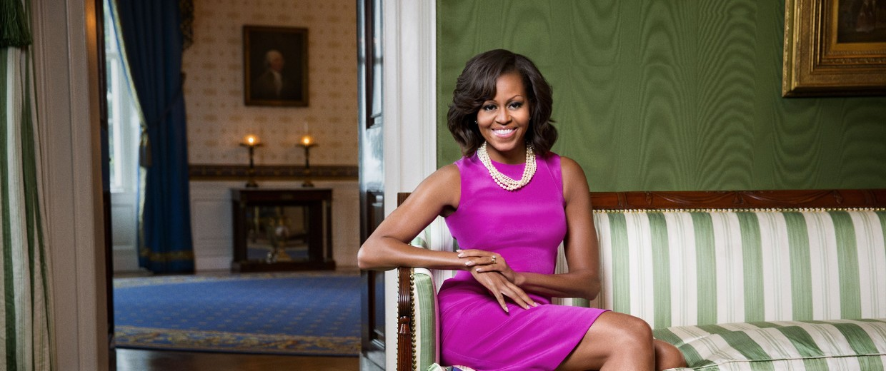Image: First lady Michelle Obama at the White House