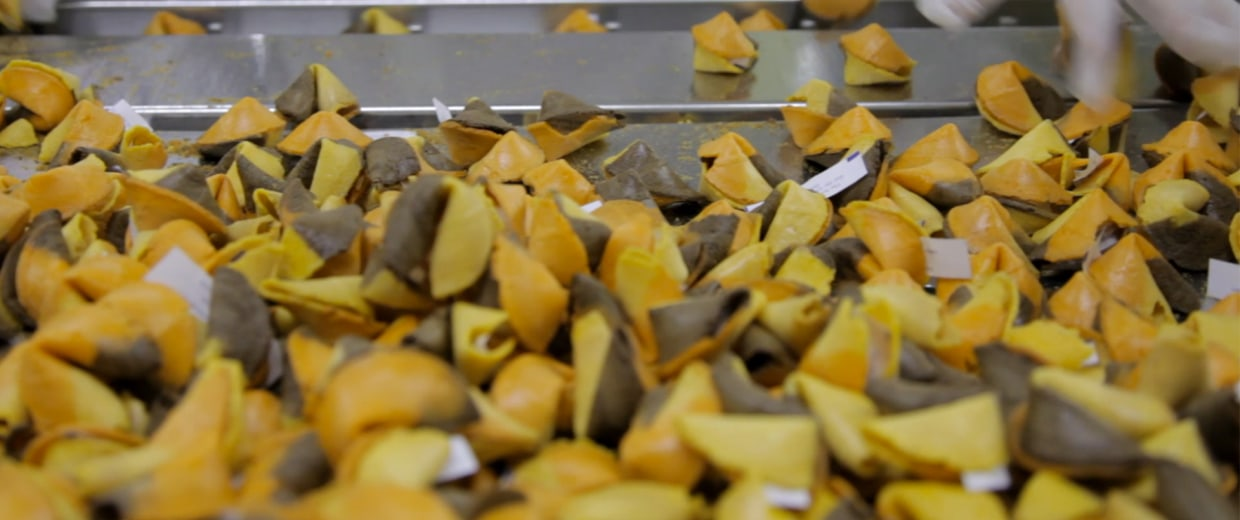 Wonton Food, Inc., has been producing fortune cookies since the 1980s.